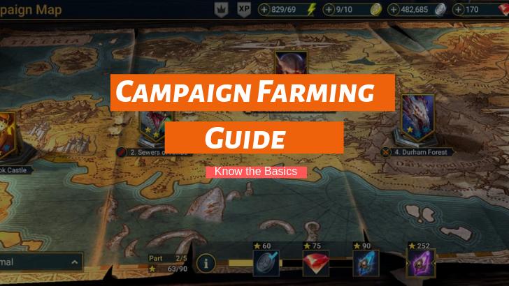 Campaign Farming Guide Raid Shadow Legend