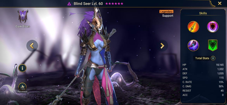 seer blind raid legends shadow masteries artifacts build dark elves faction legendary champion
