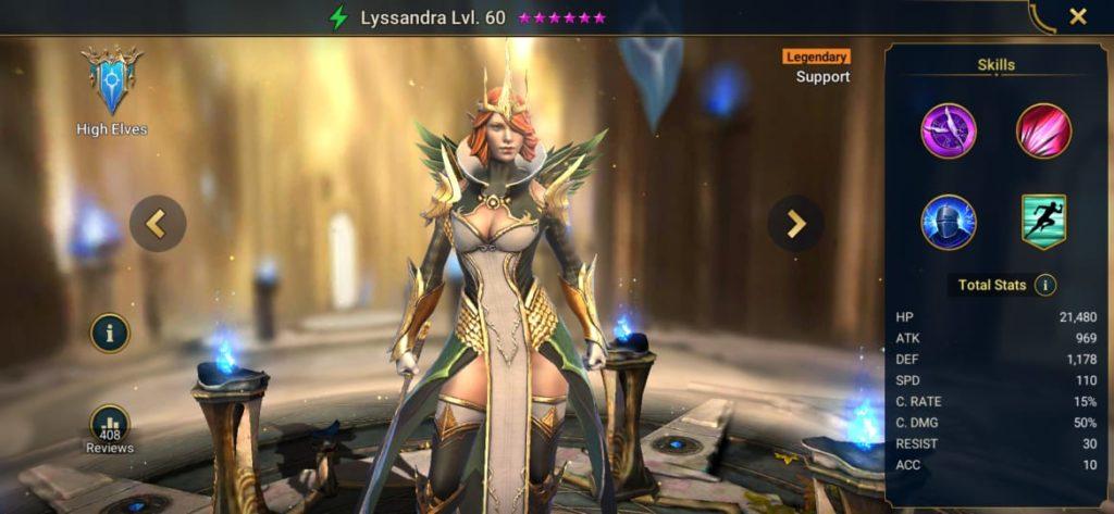 Lyssandra Build