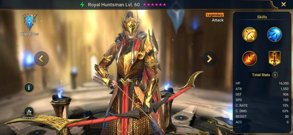 Royal Huntsman Build