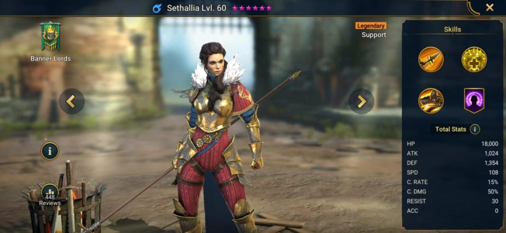 Sethallia build